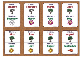 ESL GAME: Months of the Year Game (I have, who has?)
