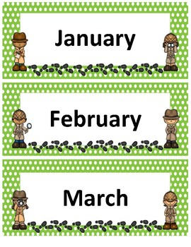 Months of the Year~ Green Polka Dot Detective