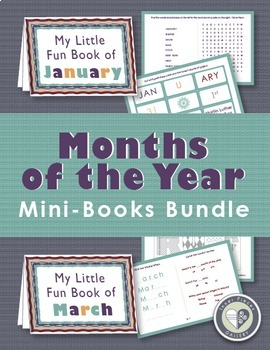 Months of the Year Mini Books Bundle