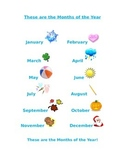 Months of the Year Guide Sheet and Worksheet