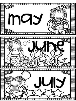 Months of the Year Header Cards