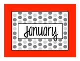 Months of the Year Calendar Signs