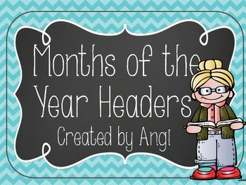 Months of the Year Headers