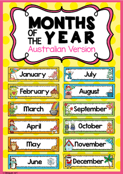 Months of the Year Headers {Australian Version}