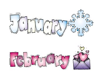 Months of the Year Headers for a Calendar