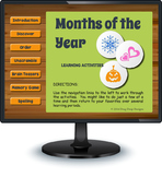 Smartboard Months of the Year Activities and Games - Australian Version