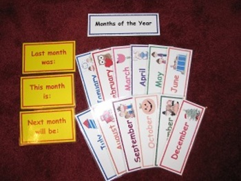 Months of the Year Interactive Learning Board