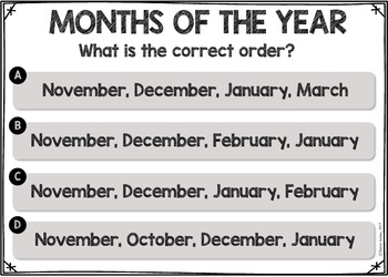Months of the Year Interactive Powerpoint