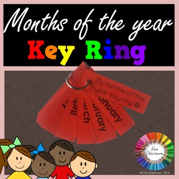 Months of the Year Key Ring