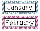 Chevron Months of the Year Labels