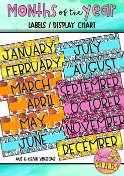 Months of the Year Labels / Display Chart