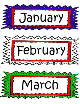 Months of the Year Labels Free