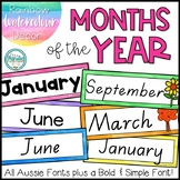 Months of the Year Labels - Rainbow Watercolour Decor