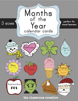Months of the Year Labels and Interactive Display (3 sizes)