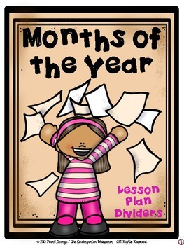 Months of the Year Lesson Plan Dividers - #2