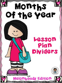 Months of the Year Lesson Plan Dividers