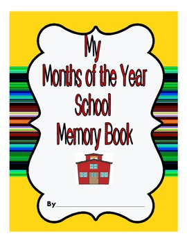 Months of the Year Memory Book to Brown Bear, Brown Bear