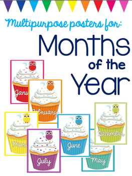 Months of the Year - Multipurpose Posters