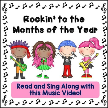 """Months of the Year Song: """"Rockin' to the Months of the Year"""" Video + Printables!"""