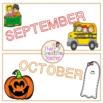 Months of the Year Pack