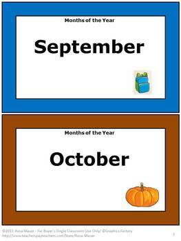 Months of the Year Task Cards