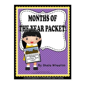 Months of the Year Packet:  Enriching Poetry, Math, & More!