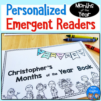 Months of the Year Personalized Emergent Readers