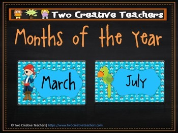 Months of the Year Pirate Theme