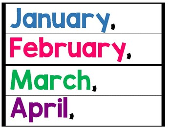 Months of the Year Pocket Chart Writing FREEBIE