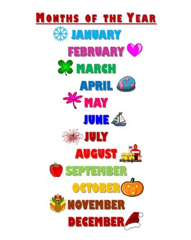 months of the year poster by choateisgoat teachers pay teachers