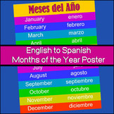 Months of the Year Poster - English / Spanish (FREEBIE)