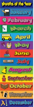 Months of the Year Poster - High Quality Graphics - Prints perfectly in any size