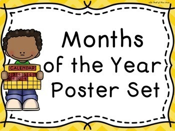 Months of the Year Poster Set (With Months of the Year Poem)