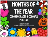 Months of the Year Posters & Coloring Set