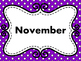 Months of the Year - Polka Dot