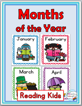 months of the year labels posters word wall by marcia murphy