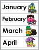 Months of the Year Posters & Word Wall Cards – Monthly The