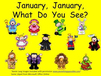 Months of the Year PowerPoint Presentation- Kindergarten or 1st Grade