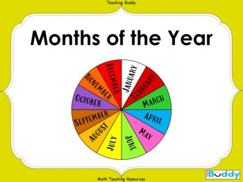 Months of the Year (PowerPoint, printables and worksheets)