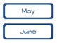Months of the Year {Preppy Nautical Theme!}