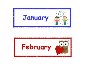 picture about Printable Months of the Year for Preschool called Weeks of the Calendar year Printable Playing cards
