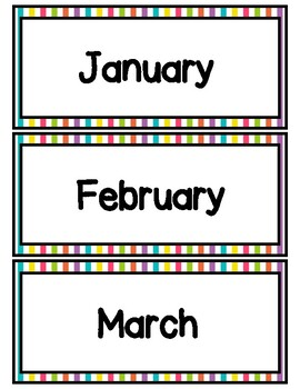 Months of the Year Printables Rainbow Decor by Catherine ...