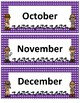 Months of the Year~ Purple Polka Dot Detective