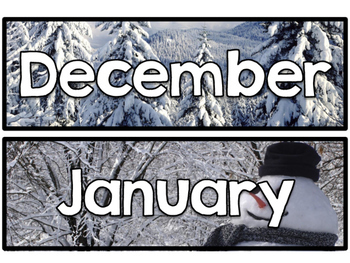 Months of the Year - Real Photo