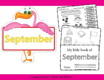 Months of the Year - September. Flipbook.( New version)