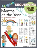Months of the Year Sequencing Puzzles with Weather and Sea