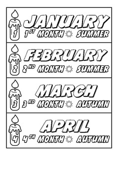 Months of the Year Sign