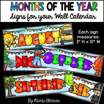 Months of the Year {Signs for your Wall Calendar}