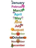 Months of the Year Song and Poster, Music and Movement Activity