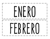 Months of the Year - Spanish